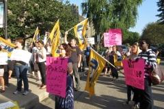 Bargaining rally outside simcoe hall